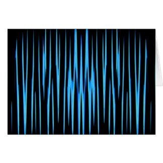 (~ AZUL ELÉTRICO de um design da arte abstracta) Cartão Comemorativo