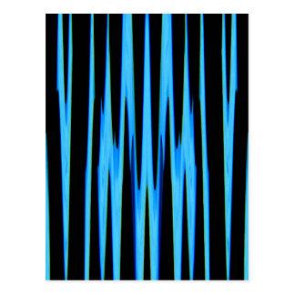 (~ AZUL ELÉTRICO de um design da arte abstracta) Cartão Postal