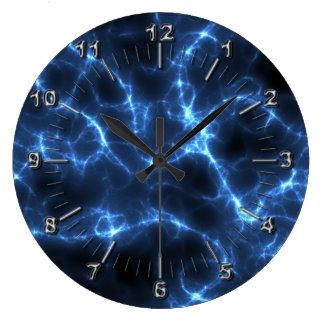 Azul elétrico relógio grande