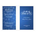 Azul em tandem da bicicleta do programa simples do panfleto coloridos