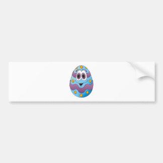 Azul engraçado do ovo da páscoa adesivo para carro