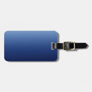 Azul escuro etiqueta de bagagem