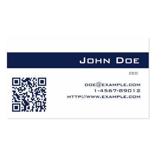 Azul escuro imperial do cartão de visita