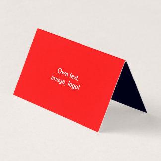 Azul escuro Vermelho dobrado cartão de visita da