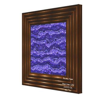 azul estrangeiro da pele impressão em tela