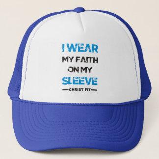 Azul eu visto meu boné da fé