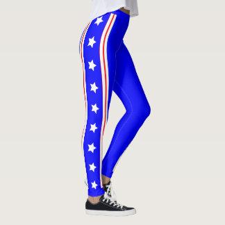 Azul final do patriota da bandeira dos Estados Leggings