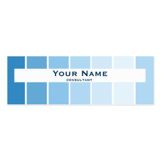 azul fino moderno da cor cartão de visita skinny