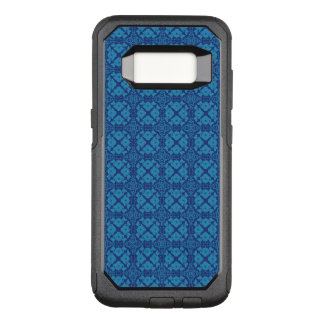 Azul floral geométrico do vintage no azul capa OtterBox commuter para samsung galaxy s8