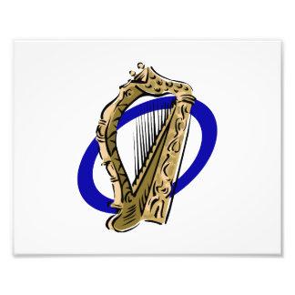 Azul gráfico ring png da harpa ornamentado foto arte