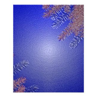 Azul II da poinsétia do Natal Flyer 11.43 X 14.22cm