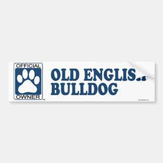 Azul inglês velho do buldogue adesivo