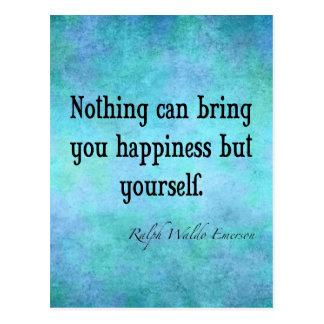 Azul inspirado das citações da felicidade de cartão postal