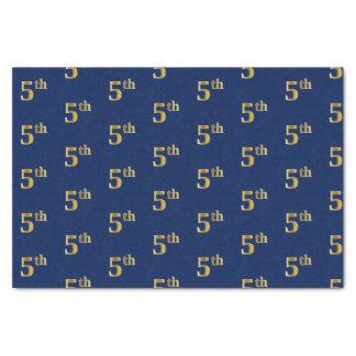 Azul, lenço de papel do evento do ouro do falso 5o