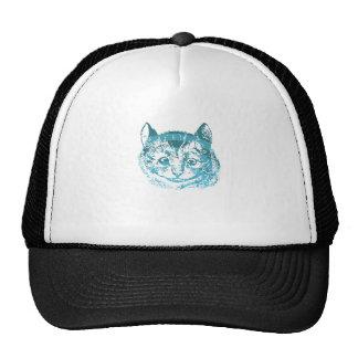 Azul listrado do gato de Cheshire Boné