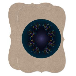Azul LUXUOSO da mandala de Oriente do marrom do Convite 12.7 X 17.78cm