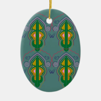 Azul luxuoso do verde dos ornamento
