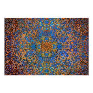 azul mágico da mandala impressão de foto