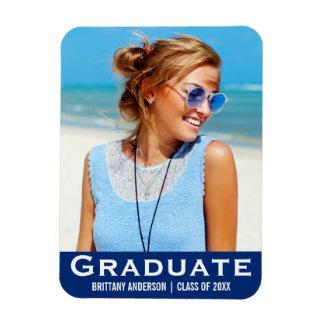 Azul moderno do ímã da foto da graduação