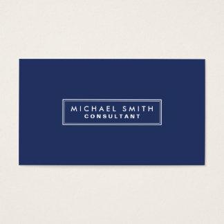 Azul moderno simples liso elegante profissional cartão de visitas