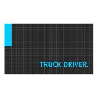 Azul múltiplo da finalidade do motorista de caminh cartoes de visita