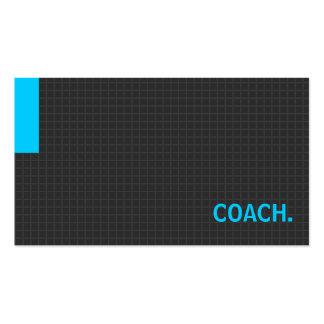 Azul múltiplo da finalidade do ônibus cartão de visita