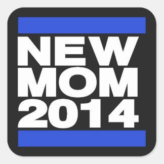 Azul novo da mamã 2014 adesivo quadrado
