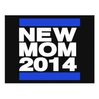 Azul novo da mamã 2014 cartão postal