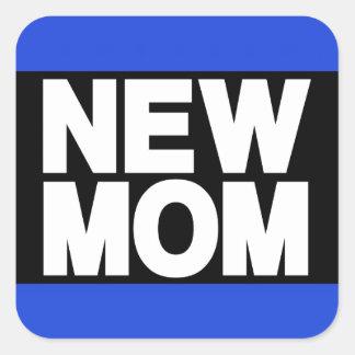 Azul novo do Lg da mamã Adesivo Quadrado