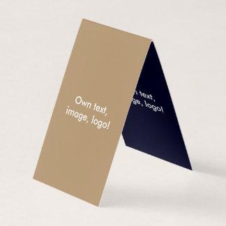 Azul Ouro-Escuro dobrado cartão de visita da
