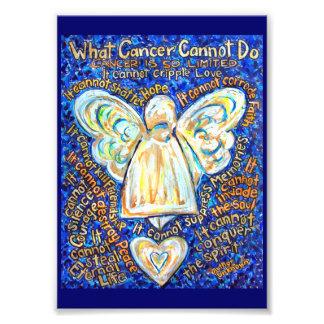 Azul ouro que cancer não pode fazer o impressão