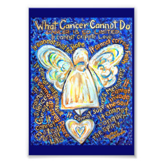 Azul & ouro que cancer não pode fazer o impressão impressão de foto