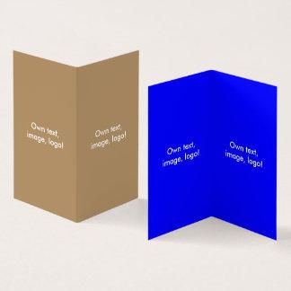 Azul Ouro-Real do livro dobrado V do cartão de