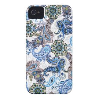 azul paisley-iphone-Samsung da capa de telefone Capas Para iPhone 4 Case-Mate