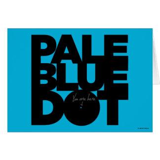 Azul pálido cartão comemorativo