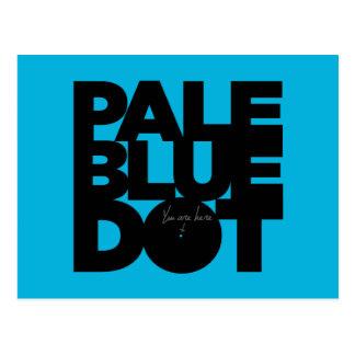 Azul pálido cartão postal