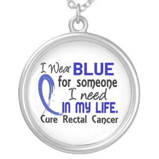 Azul para alguém eu preciso o cancer retal colar personalizado