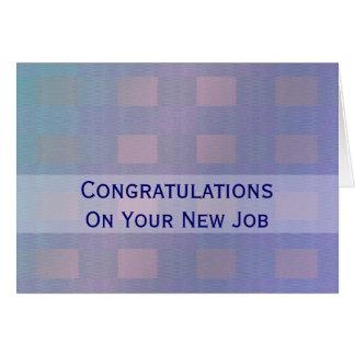 Azul pastel do trabalho dos parabéns cartão comemorativo