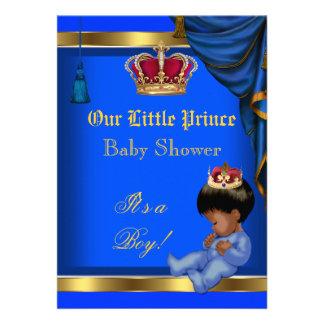 Azul pequeno elegante 2 do menino do príncipe chá convites