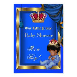 Azul pequeno elegante do menino do príncipe chá de convites