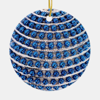 Azul perlado ornamento de cerâmica