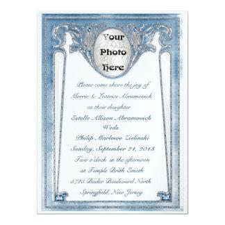 Azul perolado - foto (convite do casamento) convite 16.51 x 22.22cm