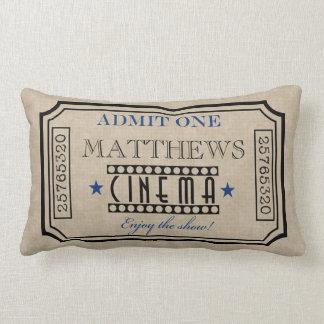 Azul personalizado do descanso do bilhete de travesseiro de decoração