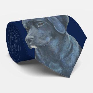 azul preto da arte do retrato do realista do cão gravata