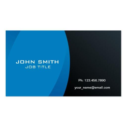 Azul profissional e preto modernos cartão de visita