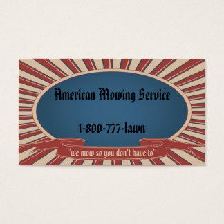 Azul referente à cultura norte-americana cartão de visitas