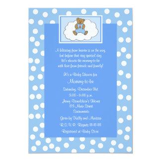 Azul religioso cristão do convite do chá de