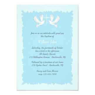 Azul religioso do convite das pombas