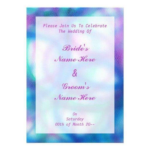 Azul, roxo e casamento da cerceta convite personalizados