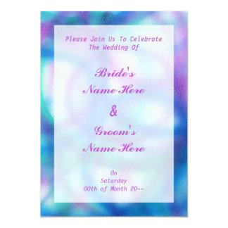 Azul, roxo e casamento da cerceta convite 12.7 x 17.78cm